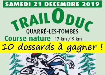 10 dossards Trail O Duc 2019 (Yonne)