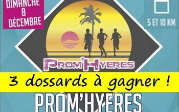 Photo of 3 dossards Prom'Hyeres, Hyères Running Days 2019 (Var)