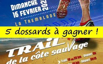 Photo of 5 dossards Trail de la côte sauvage 2020 (Charente Maritime)