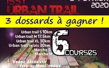 Photo of 3 dossards Issy Urban Trail 2020 (Hauts de Seine)