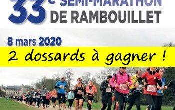 Photo of 2 dossards Semi-marathon de Rambouillet 2020 (Yvelines)