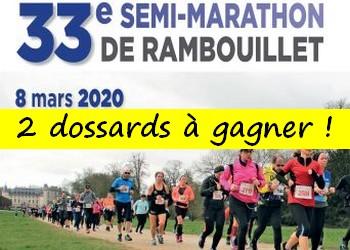 2 dossards Semi-marathon de Rambouillet 2020 (Yvelines)