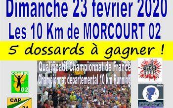 Photo of 5 dossards 10 km de Morcourt 2020 (Aisne)