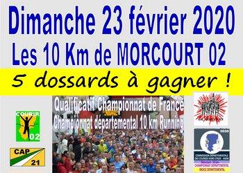 5 dossards 10 km de Morcourt 2020 (Aisne)