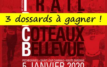 Photo of 3 dossards Trail des Coteaux Bellevue 2020 (Haute Garonne)