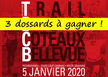 3 dossards Trail des Coteaux Bellevue 2020 (Haute Garonne)