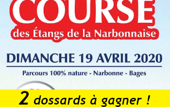 Photo of 2 dossards Course des étangs de la Narbonnaise 2020 (Aude)