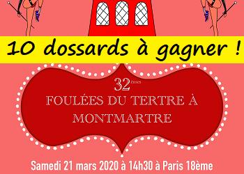10 dossards 10 km Foulées du Tertre de Montmartre 2020 (Paris)