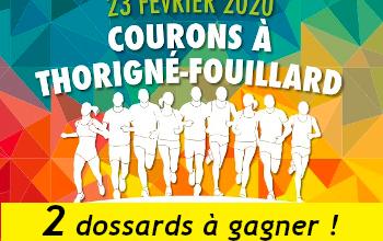Photo of 2 dossards Courons à Thorigné Fouillard 2020 (Ille et Vilaine)