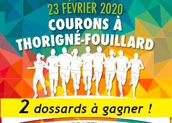 2 dossards Courons à Thorigné Fouillard 2020 (Ille et Vilaine)
