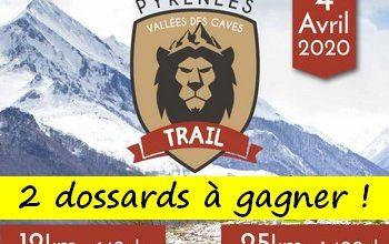 Photo of 2 dossards Pyrénées Vallée des Gaves Trail 2020 (Hautes Pyrénées)