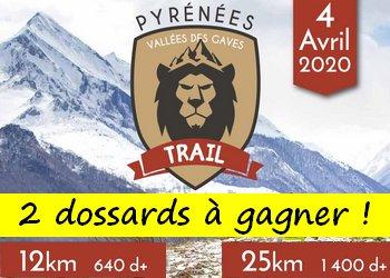 2 dossards Pyrénées Vallée des Gaves Trail 2020 (Hautes Pyrénées)