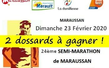 Photo of 2 dossards Semi-marathon de Maraussan 2020 (Hérault)