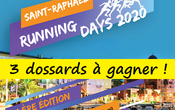 Photo of 3 dossards Saint-Raphaël Running Days 2020 (Var)