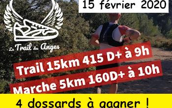 Photo of 4 dossards Trail des anges 2020 (Bouches du Rhône)