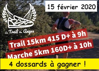 4 dossards Trail des anges 2020 (Bouches du Rhône)