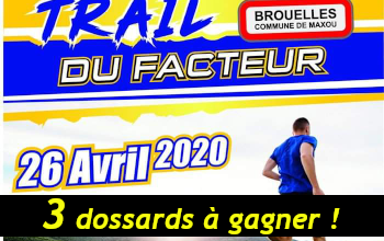 Photo of 3 dossards Trail du Facteur 2020 (Lot)