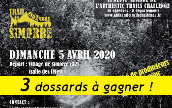 Photo of 3 dossards Trail and More in Simorre 2020 (Gers)