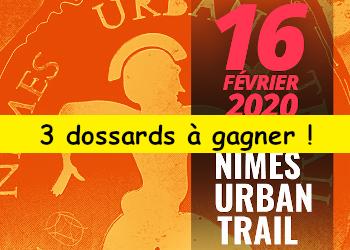 3 dossards Nîmes Urban Trail 2020 (Gard)
