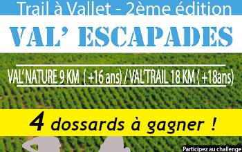 Photo of 4 dossards Trail Val escapades 2020 (Loire Atlantique)