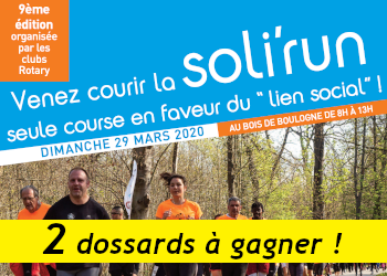 2 dossards Soli Run Paris 2020 (Paris)