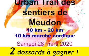 Photo de 2 dossards Urban Trail des Sentiers de Meudon 2020 (Hauts de Seine)