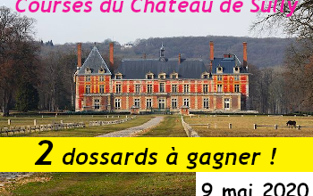 Photo de 2 dossards Course du Château de Sully 2020 (Yvelines)