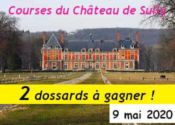 2 dossards Course du Château de Sully 2020 (Yvelines)