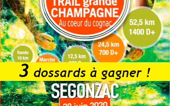 Photo de 3 dossards Trail Grande Champagne 2020 (Charente)