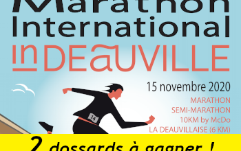 Photo de 2 dossards Marathon international de Deauville 2020 (Calvados)