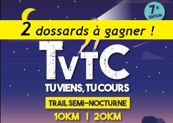 2 dossards TVTC Tu Viens Tu Cours 2020 (Yvelines)