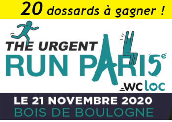 20 dossards Urgent Run Paris 2020 (Paris)